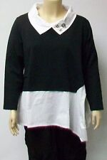 RIMINI OF ITALY,THEIR SIZE 6/7 COTTON AND SPANDEX BLACK AND WHITE TUNIC.
