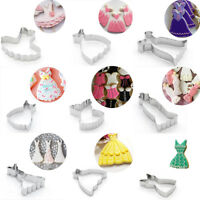 9PCS Cookie Cutters Lady's Dress Skirt Biscuits Mold Wedding Baking Cake Mould