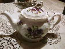 Crown Dorset Staffordshire Pansy Teapot Gold Trimmed