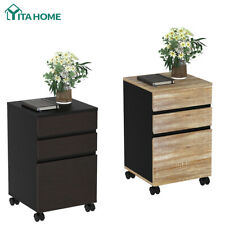 Yitahome Wood 3 Drawer Mobile File Cabinet Desk Storage Office For Lettera4
