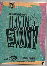 ORIG. prg EE. UU. liga-npsl 90/91 milwaukee Wave-detroit Rockers rara vez!!!