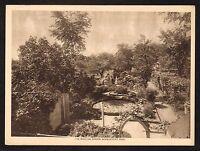 1910s Antique Moulton Garden Newburyport Massachusetts Photo Gravure Print