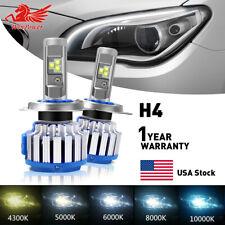 2Pcs H4 HB2 9003 LED Headlight Bulbs Conversion Kit 70W 14400LM 6000K White US