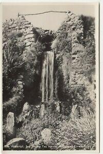 Devon; The Waterfall, Sea Shanty Tea Room, Branscombe 16691 RP PPC Unused, c 30s