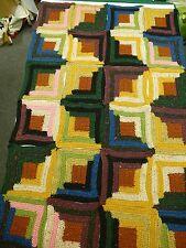 Crocheted Log Cabin Afghan Kit - 39 X 59 - Heartland Yarn from Lion Brand