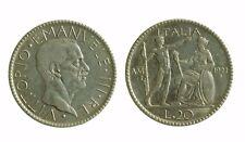 170) Regno Vittorio Emanuele III (1900-1943)  20 Lire 1927 Littore