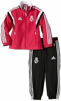 adidas Real Madrid Presentation Tracksuit Set Infants Pink/Black Football Soccer
