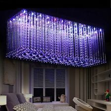 LED Crystal Dining Room Color Changing Chandelier Pendant Lighting w/ Remote Hot