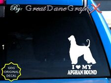 I Love My Afghan Hound - Vinyl Decal Sticker / Color Choice - High Quality
