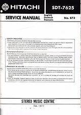 service Manuel d'instructions pour Hitachi sdt-7625