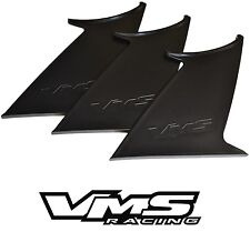 3 THREE VMS RACING REAR WING SPOILER SUPPORT STABILIZER for 15-17 SUBARU WRX STI