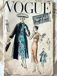 50s vintage QIPAO chengonsum dress vintage VOGUE sewing pattern - DRESS ONLY