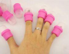 10 Pcs Wearable Nail Soak Soakers Polish Remover Acrylic UV Gel Cap Lot