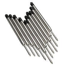 10X Black Ballpoint Pen Ink Refills Fine Point Medium Common for Parker Style LW