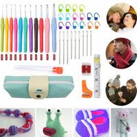 41Pcs Crochet Hook Kit Yarn Knitting Needle Sewing Tool Ergonomic Easy Grip Bag