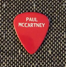 "Paul McCartney Original Red Guitar Pick from the ""NEW"" Tour."