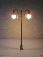 L006c-10pcs 12V Scale Model Trains Scenery Layout Lamp Post HO
