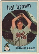 1959 Topps  #487     HAL BROWN    BALTIMORE ORIOLES      EX-MT to EX-MT+