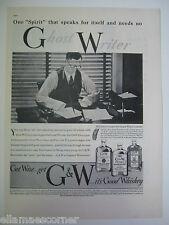 1937 G&W Whiskey Original Print Ad