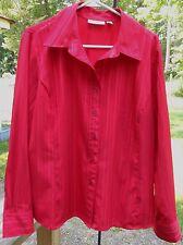 "CROFT & BARROW Red Metallic Long Sleeved Button Poly/Spandex Shirt XL (47"") MINT"