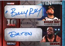 TNA Bully Ray & Devon Dudley 2012 TENacious RED Dual Autograph Card SN 2 / 10