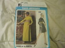 VOGUE AMERICANA pat #2219 evening dressOSCAR DE LA RENTA  VINTAGE 60s sz 14 CUT