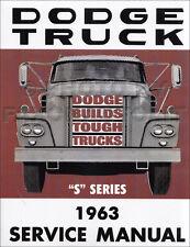 1963 Dodge Truck Manual Taller Camioneta Power Wagon Panel Servicio D100-D700