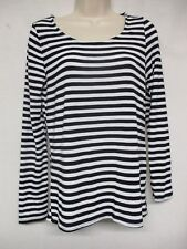 Heart Hips  Long Sleeve Striped Stretchy Blouse Top Size L      g10