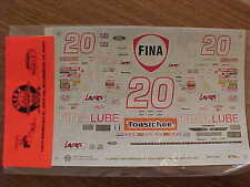 NEW 1995 BOBBY HILLIN JR. #20 FINA LUBE 1/24 SCALE WATER SLIDE DECAL SHEET