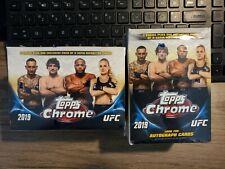 Lot (2) 2019 Topps Chrome UFC MMA Trading Cards 7 Packs+1 Bonus Pack BLASTER
