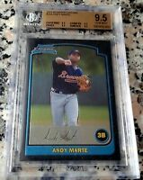 ANDY MARTE 2003 Bowman Chrome Rookie Card RC BGS All 9.5 Braves Indians R.I.P.