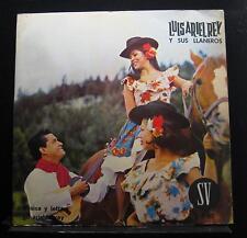Luis Ariel Rey - Y Sus Llaneros LP VG LP-193 Sello Vergara Colombia Vinyl Record