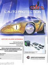 PUBLICITE ADVERTISING 105  1990  COBRA  alarme voitures EUROPE AUTO EQUIPEMENT