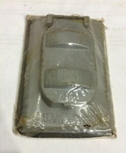 FC-61V Gray Duplex Switch Or Receptacle Cover