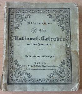Kalender, Allgemeiner Preußischer National-Kalender auf das Jahr 1845