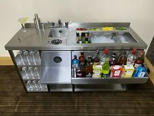 More details for deluxe cocktail bar station, stainless steel, with fully insulated ice well unit