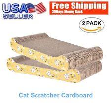 2 Pack ScratchMe Cat Scratching Corrugated Board Scratcher Bed Pad With Catnip