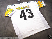 TROY POLAMALU #43 - Pittsburgh Steelers White NFL Jersey -- ALL SIZES AVAILABLE