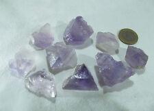 9x Fluorit Roh zart rosa violet lila aus Spanien Edelsteinwasser 169g