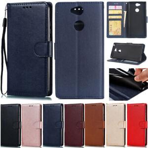 Slim Wallet Leather Flip Stand Case Cover For Sony XZ2 L2 XZ XA1 Plus XA2 Ultra