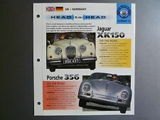 "Jaguar XK150 vs Porsche 356 Speedster ""Head to Head"" IMP ""Hot Cars"" Spec Sheet"