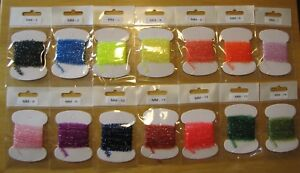 Cactus Chenille, fly tying material, 14 color assortment, ice cactus chenille