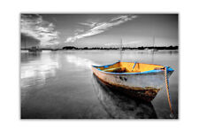 Black and White Dinky Boat Landscape Wall Prints Poster Art Decoration Pictures