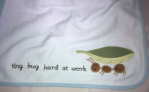 Gymboree Blanket NWT Ant Tiny Bug Hard Work Blue Boy Knit Thick Cute Aunt Auntie