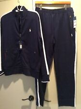 NWT POLO RALPH LAUREN SWEATSUIT/TRACKSUIT FULL ZIP JACKET  BLUE W/ WHITE PONY L