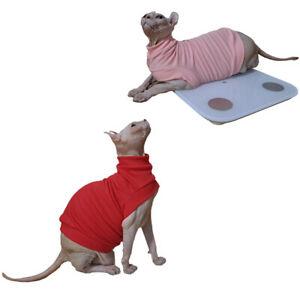 Hairless Cat T-Shirts Vest Sleeveless Candy-colored Cotton Sphynx Pet Clothes
