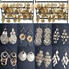 NT 12 pairs Wholesale Jewelry Mixed Style Gold Plated Fashion Dangling Earrings
