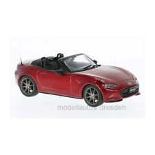 First: 43 f43069 Mazda mx-5 Roadster Metallic rouge échelle 1:43 Voiture Miniature Neuf! °