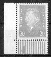 Deutsches Reich DR 336 Eckrand Ecke 3 mit Gummifehler