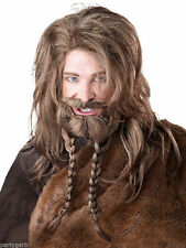 Dirty Blonde Viking Wig Beard Mustache Barbarian Pirate Medieval Norse Warrior